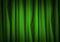 Green curtain Royalty Free Stock Photos