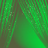 Green curtain Royalty Free Stock Image