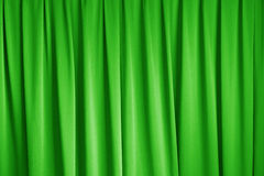 Green curtain of cinema stage background Royalty Free Stock Image