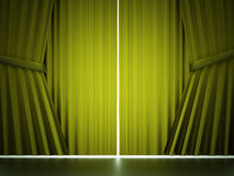 Green curtain concept Royalty Free Stock Image
