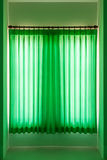 Green curtain for decorate. Royalty Free Stock Photography