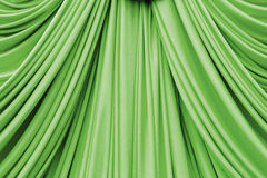 Green curtain texture Royalty Free Stock Images