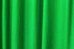Green curtain texture background Stock Photo
