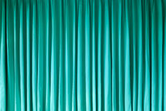 Green curtain Royalty Free Stock Photography
