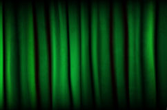 Green curtain with texture Royalty Free Stock Photography