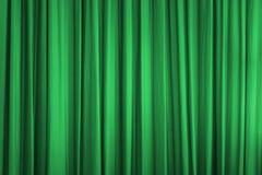 Green curtain Royalty Free Stock Photo
