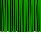 Green curtain from the theater Royalty Free Stock Photo