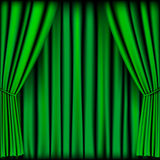 Green curtain. Vector for background vector illustration