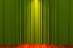 Green curtain Stock Photo
