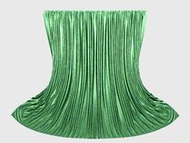 Green curtains Royalty Free Stock Images