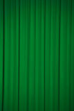 Green curtains Stock Images