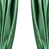 Green curtains isolated. Over white as a background royalty free stock photography