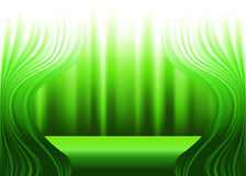Green curtains and stage Stock Photos