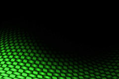 Green curve carbon fiber on the black shadow. Background and texture royalty free illustration