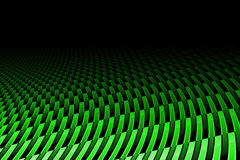 Green curve carbon fiber. On the black shadow. background and texture royalty free illustration