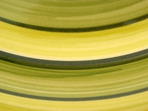 Green curves. Macro of green rimmed plate royalty free stock photography