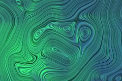 Green curvy lines background. Abstract background with textured curvy lines in blue and green colors. 3d illustration vector illustration