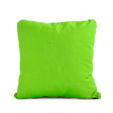 Green cushion on white background Royalty Free Stock Image