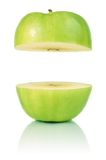 Green cut apple Royalty Free Stock Images