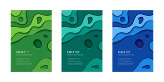 Paper cut vector abstract background royalty free illustration