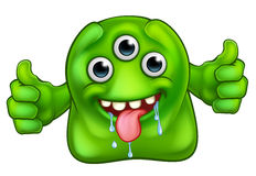 Green Cute Alien Monster Stock Photos