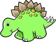 Green Cute Dinosaur. Green Cute Stegosaurus Dinosaur Vector Illustration Stock Photos