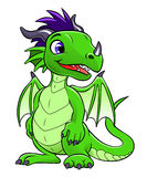Green cute dragon Royalty Free Stock Photography