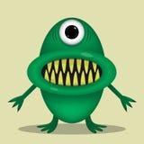Green cute monster Stock Photos