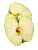 Green cuted apple Royalty Free Stock Image