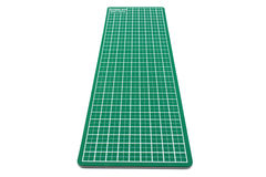 Green cutting mat of office isolated on white background Stock Photo