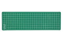 Green cutting mat of office isolated on white background Stock Image