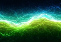 Green and cyan electric lighting Stock Photography
