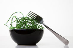 Green Cyber Noodles Royalty Free Stock Photo