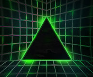 Green Cyber Punk Background Stock Photos