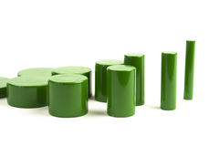 Green Cylinders Stock Images