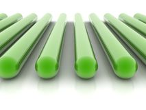 Green cylinders Royalty Free Stock Image
