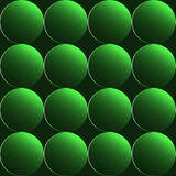 Green 3D buttons seamless background Stock Photography