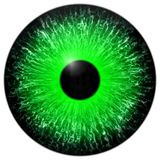 Green 3d eye texture with black fringe. And lines Stock Photos