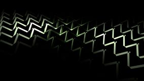 Green 3D Geometric Abstract Background Stock Photo