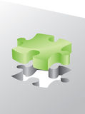 Green 3d puzzle Stock Image