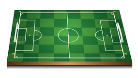 Green 3d soccer field Stock Photography