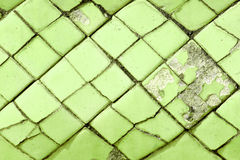 Green damaged old wall background Stock Photography
