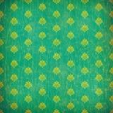 Green damask grunge wallpaper Stock Image