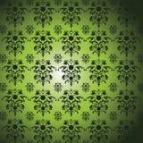 Green Damask Pattern Royalty Free Stock Image