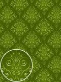 Green Damask Style Pattern Stock Image