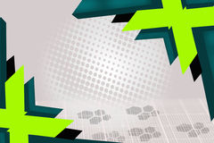 green and dark green arrow overlap, abstract background Royalty Free Stock Photos