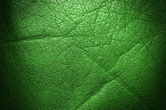 Green dark shining leather. Texture background Royalty Free Stock Images