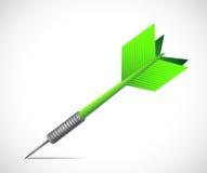 Green dart illustration design Stock Photos