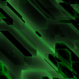 Green data flow Stock Photography