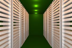 Green data room Royalty Free Stock Photography